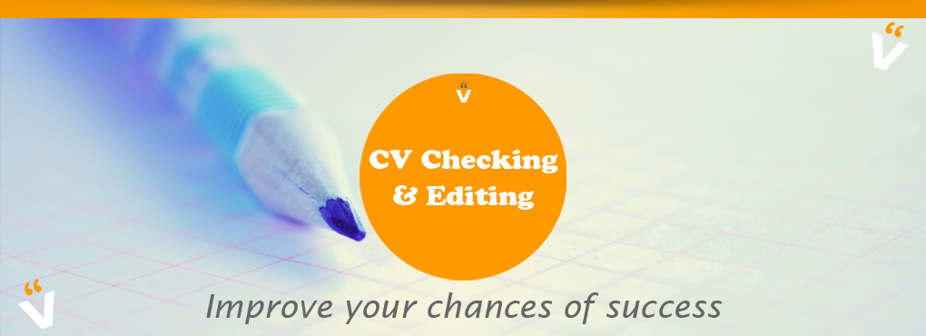 CV checking, editing and proofreading services