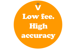 Low fee and high accuracy for a website that's free from text errors!